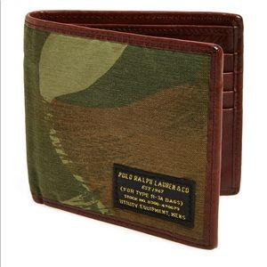 Military Canvas & Leather Camo Ralph Lauren wallet